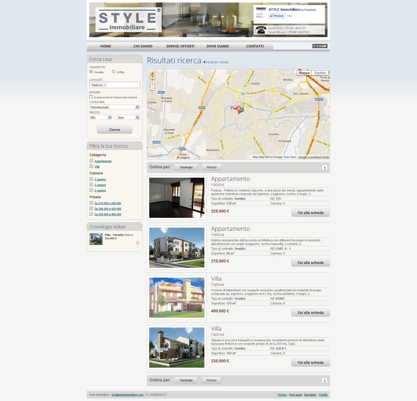 L Occhio Immobiliare Padova on line l'agenzia style immobiliare – mercurio sistemi